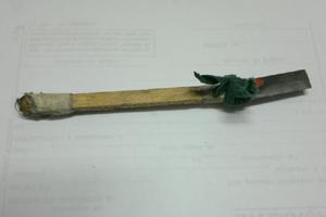 Material utilizado para serrar as grades