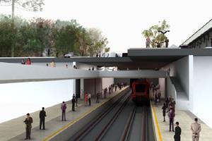 Ilustração do projeto do metrô em Curitiba.