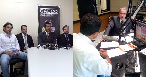 Coletiva do Gaeco / Entrevista Michelotto à Banda B (Fotos: Juliano Cunha e Luiz Henrique de Oliveira)