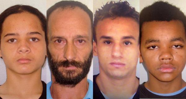 Van Basten, Milton, Clóvis e Ronald são procurados. (Foto: Divulgação Polícia Civil)