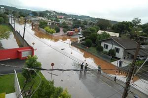 Francisco Beltrão decretou emergência (Foto: Defesa Civil)