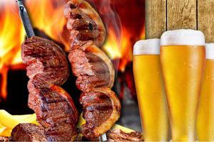 carne e cerveja
