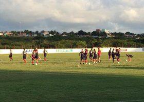 Time do Paraná treina no CT do América-RN (Foto: Monique Vilela/Banda B)