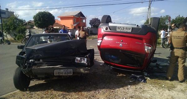 Acidente deixou seis feridos (Foto: Antônio Nascimento - Banda B)