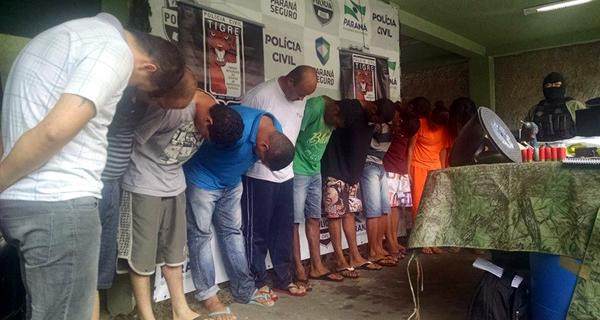 Presos foram levados para a sede do Tigre (Foto: Juliano Cunha - Banda B)