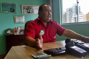 Anderson Teixeira confirmou greve geral para segunda-feira (Foto: Juliano Cunha – Banda B)