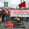 Manifestação contra o projeto de terceirização
