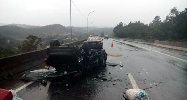Sargento morreu na hora (Foto: PRF)