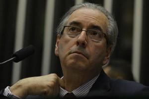 Brasília - Presidente da Câmara dos Deputados, Eduardo Cunha, durante sessão deliberativa (Valter Campanato/Agência Brasil)