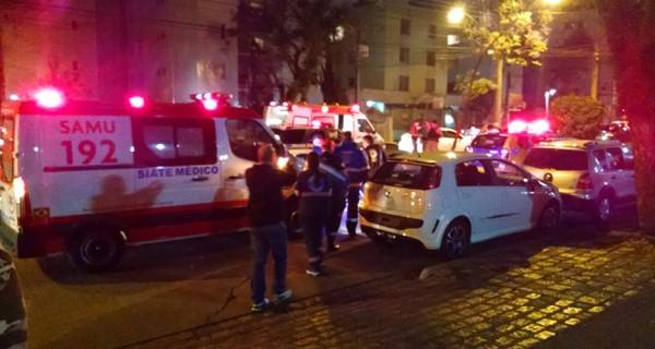 Houve tumulto no local após disparo (Foto: Juliano Cunha - Banda B)