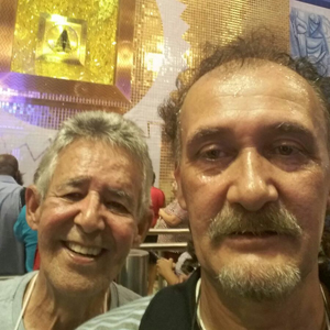 Luiz Carlos Martins e o técnico Valdir Lopes já estão em Aparecida