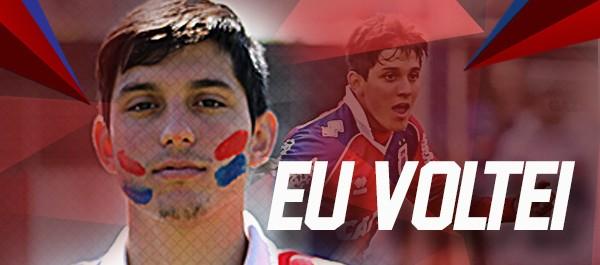 Lucas Otávio está de volta à Vila Capanema. (Reprodução)