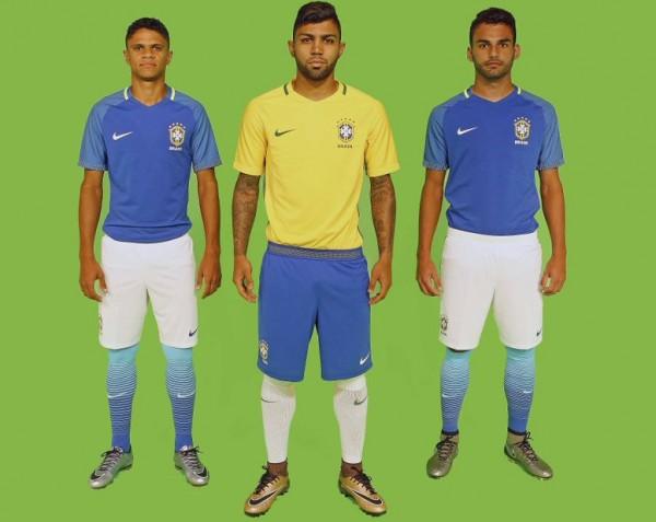 Novo uniforme segue com as tradicionais cores. (Divulgação  CBF) a7e04286a94c9