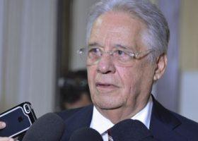 Brasília - O ex-presidente da  Fernando Henrique Cardoso fala à imprensa em reunião na sede da Executiva Nacional do PSDB (Valter Campanato/Agência Brasil)