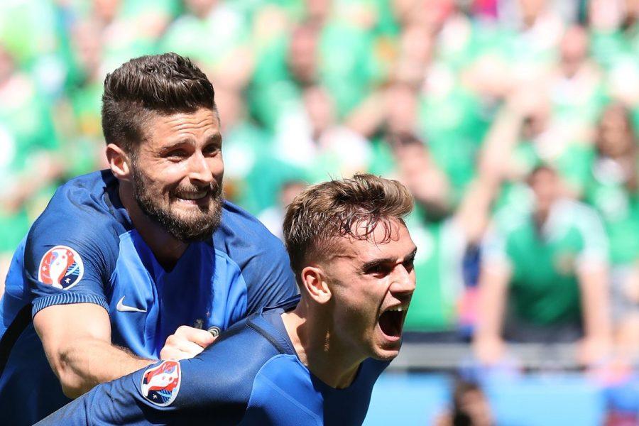 Griezmann colocou a França nas quartas de final da Euro. (Reprodução/Twitter)