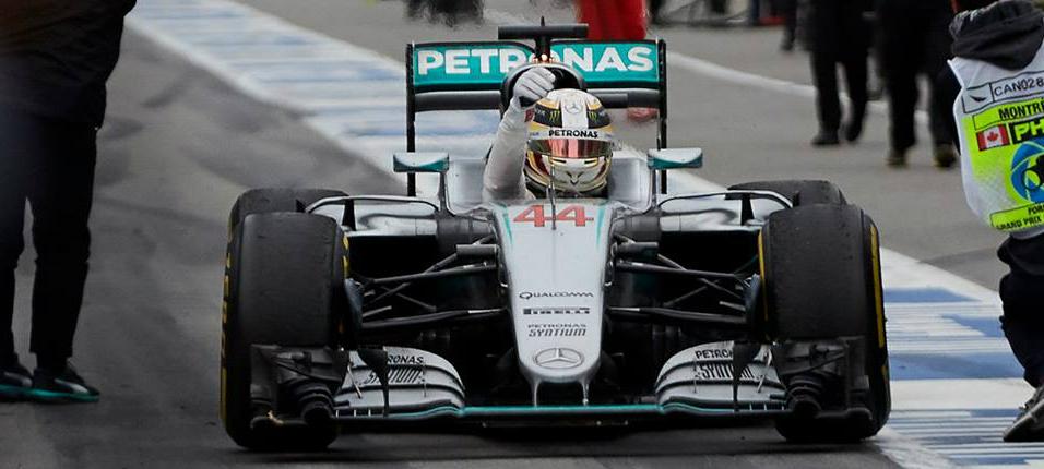 Hamilton foi o mais rápido no novo circuito. (Facebook/ Mercedes AMG Petronas)
