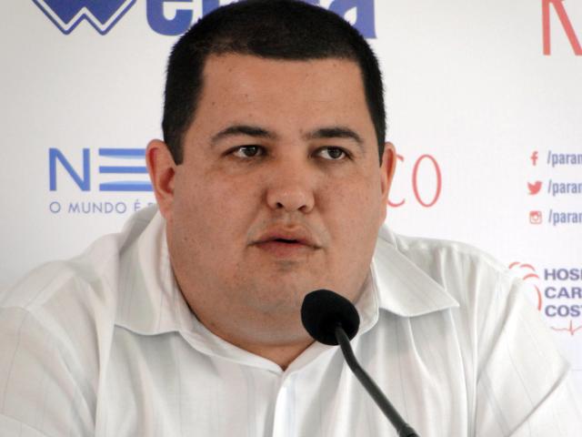 Leonardo Oliveira lamentou os resultados do Paraná até o momento. (Monique Vilela/Banda B)