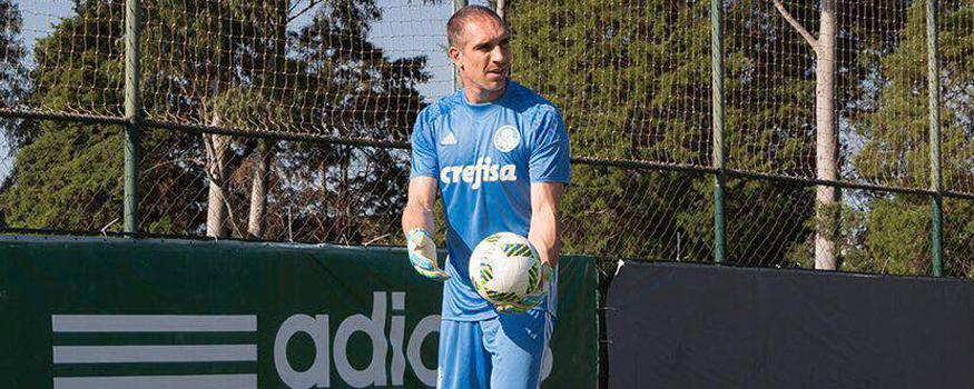 Fernando Prass é um dos jogadores acima de 23 anos na Olimpíada. (Divulgação/Palmeiras)