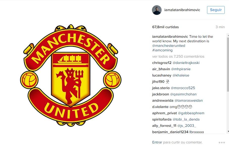 Ibra confirmou ida para o United. (Reprodução)