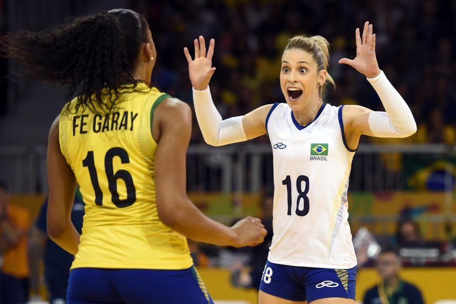 Camila Brait foi uma das jogadores cortadas na Olimpíada. (Divulgação/CBV)