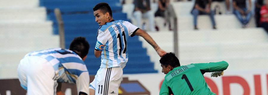 Sem grandes nomes, Ángel Correa é o grande destaque da Argentina na Olimpíada. (Divulgação/FIFA)