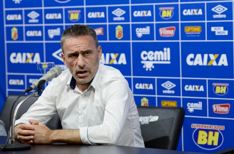 Paulo Bento não é mais técnico da Raposa. (Washington Alves/ Light Press/ Cruzeiro)