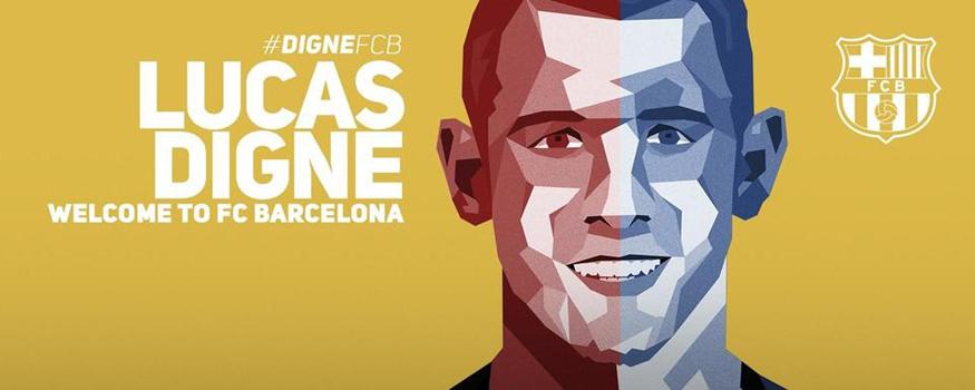 Digne reforça o Barça. (Divulgação/ Barcelona)
