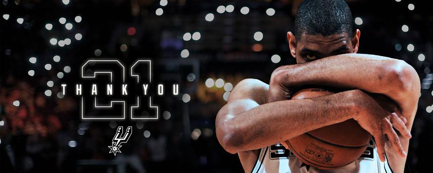 Tim Duncan se despede das quadras. (Divulgação/ San Antonio Spurs)