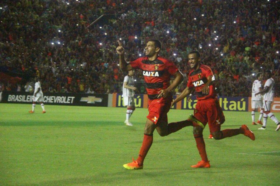 Diego Souza marcou em sua 100ª partida pelo Sport. (Divulgação/Sport)