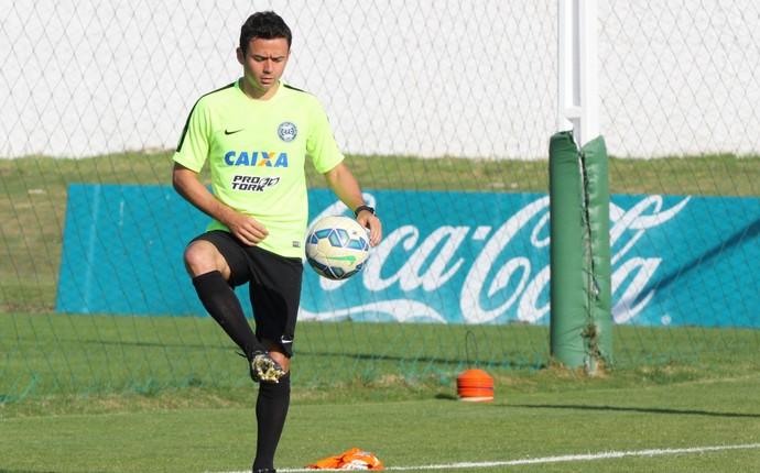 Juan teve o contrato suspenso após discutir com Pachequinho. (Divulgação/Coritiba)