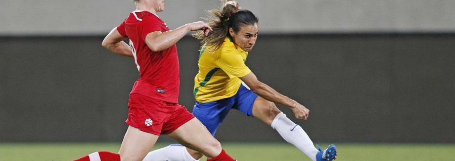 Maior brasileira da história, Marta já ganhou duas medalhas de prata com o Brasil e é a principal esperança para a conquista do ouro. (Divulgação/CBF)