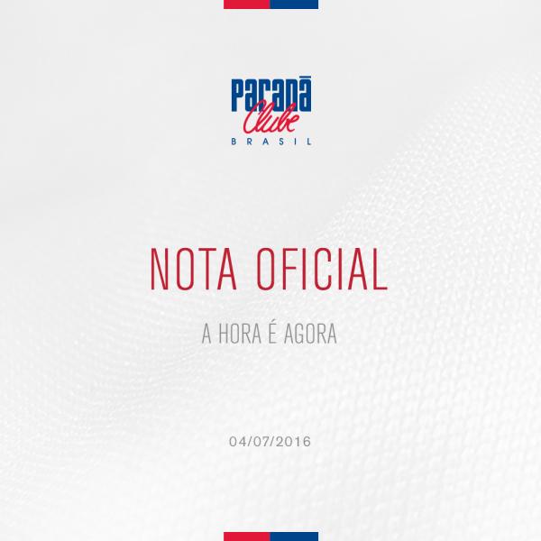 Paraná pede a presença da torcida. (Reprodução)