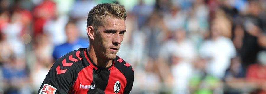 Nils Petersen não está entre os jogadores com mais destaque na Alemanha, mas foi artilheiro na segunda divisão e é a referência alemã. (Divulgação/Freiburg)