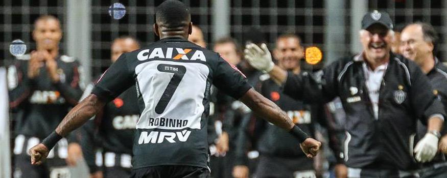 Robinho fez os dois da vitória do Galo. (Divulgação/ Atlético Mineiro)