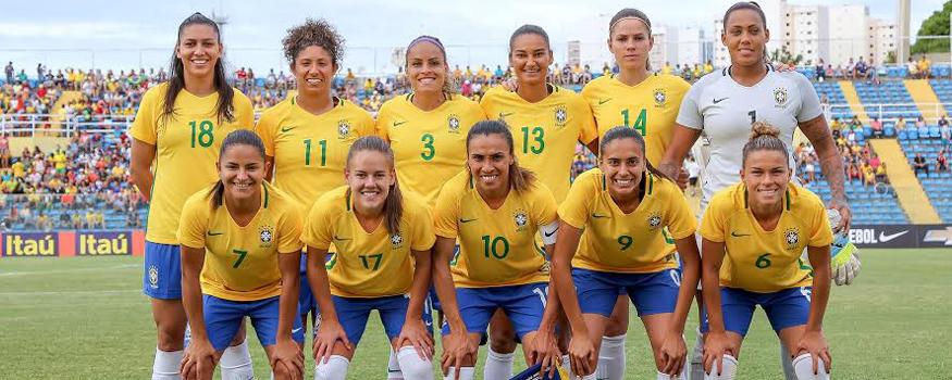 Seleção feminina venceu amistoso preparatório. (Divulgação/ CBF)