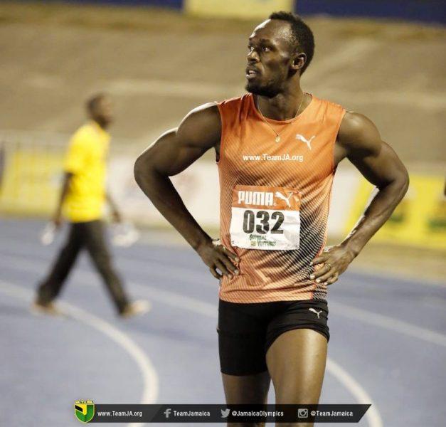 Lesão tirou Bolt da final da seletiva jamaicana. (Reprodução/Twitter)