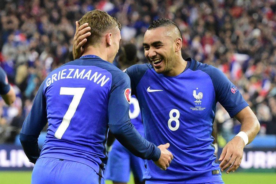 Dupla Griezmann e Payet já marcou sete gols na Euro. (Reprodução/Twitter UEFA Euro)