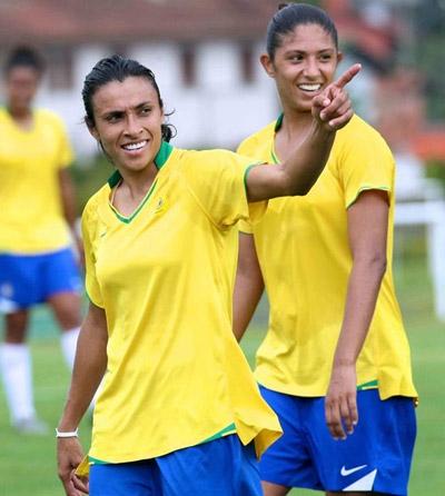 Marta e Cristiane serão as principais esperanças do Brasil. (Divulgação/CBF)