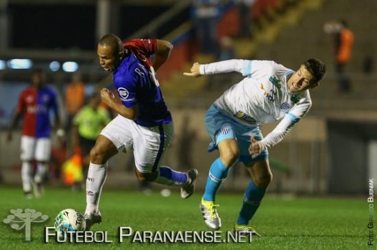 Paraná encerrou a sequência de três vitórias. (Geraldo Bubniak/Futebolparanaense.net)