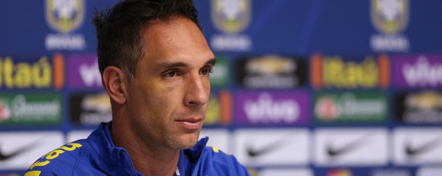 Fernando Prass não treinou. (Lucas Figueiredo / MoWA Press/ CBF)