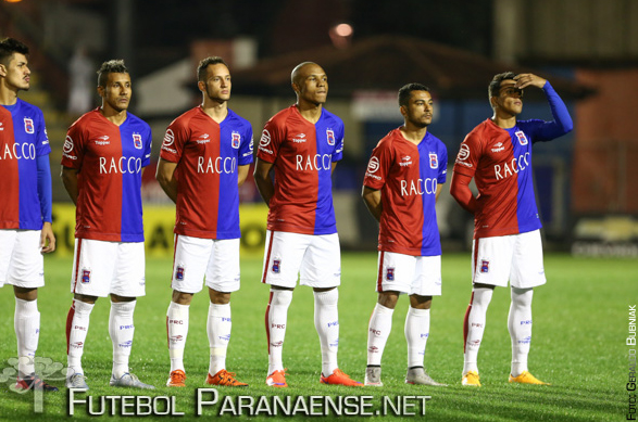 Elenco do Paraná será reavaliado por Martelotte no final do primeiro tempo. (Geraldo Bubniak/Futebolparanaense.net)