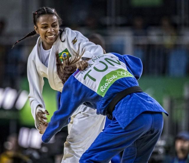 Érika Miranda perdeu nas quartas e na disputa do bronze. (Márcio Rodrigues/CBJ)