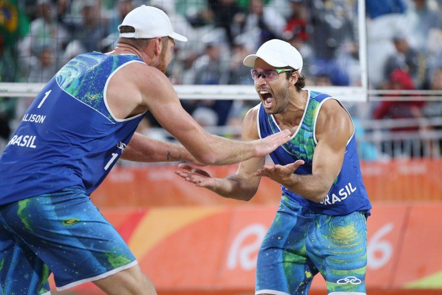 Alison e Bruno Schmidt disputam a final na próxima quinta. (Divulgação/CBV)