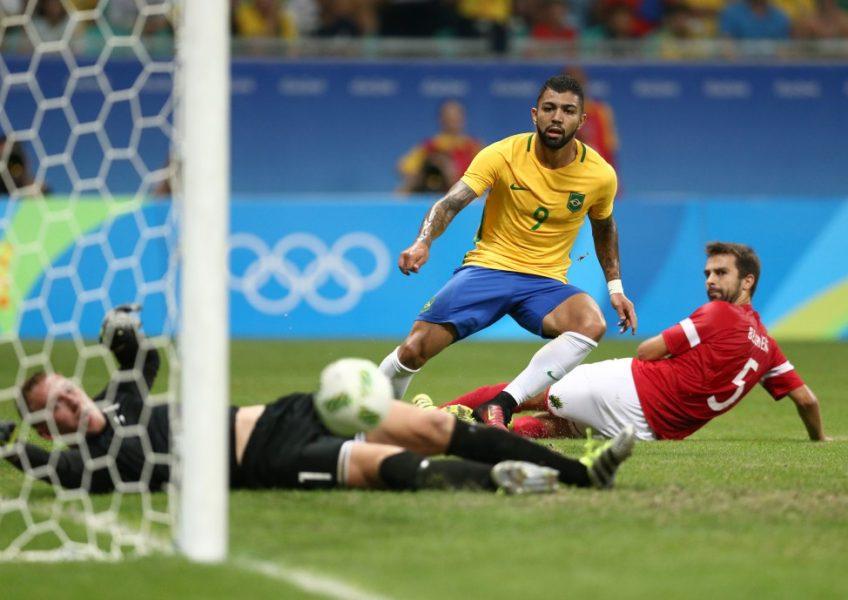 Gabriel marcou duas vezes na goleada brasileira. (Lucas Figueirense/Mowa Press/CBF)