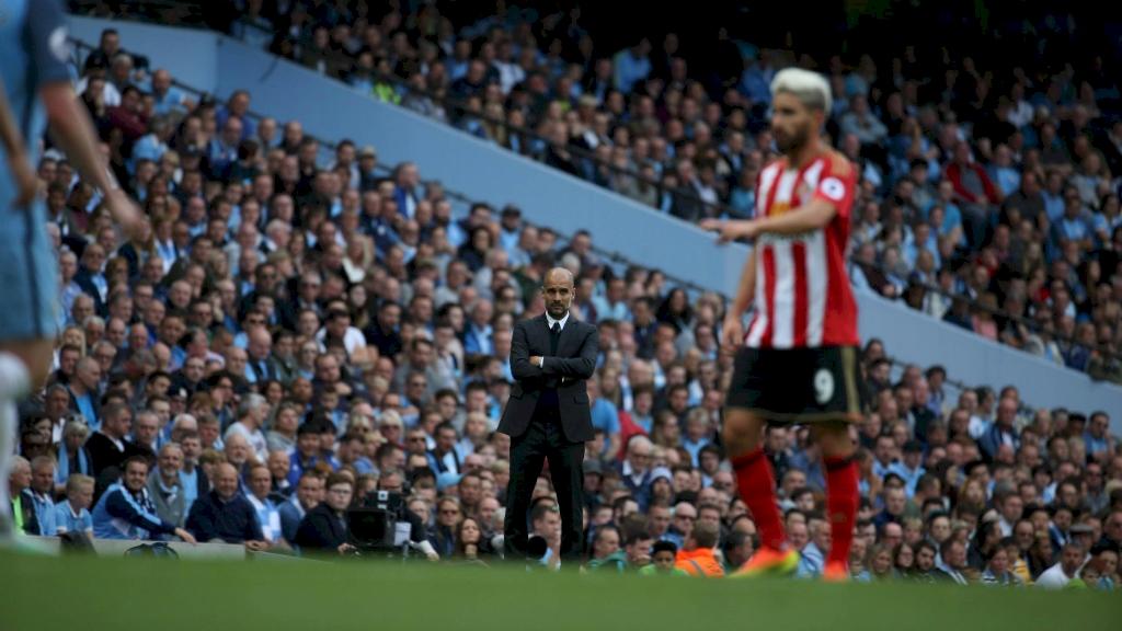Guardiola estreou com o pé direito no City. (Divulgação/Manchester City