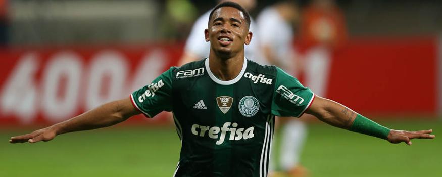 Jesus foi contratado pelo City. (Cesar Greco/ Ag Palmeiras/ Divulgação)