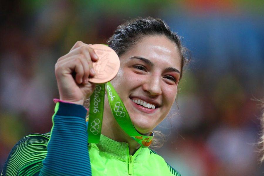 Mayra Aguiar conquistou seu segundo bronze em Olimpíada. (Roberto Castro/Brasil 2016)