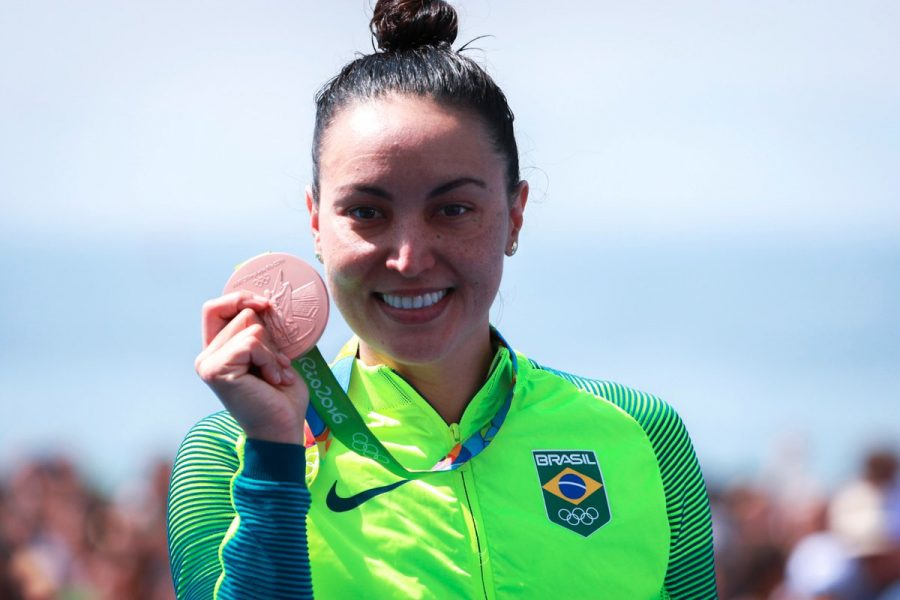 Poliana Okimoto é bronze para o Brasil. (Danilo Borges/ Brasil2016)
