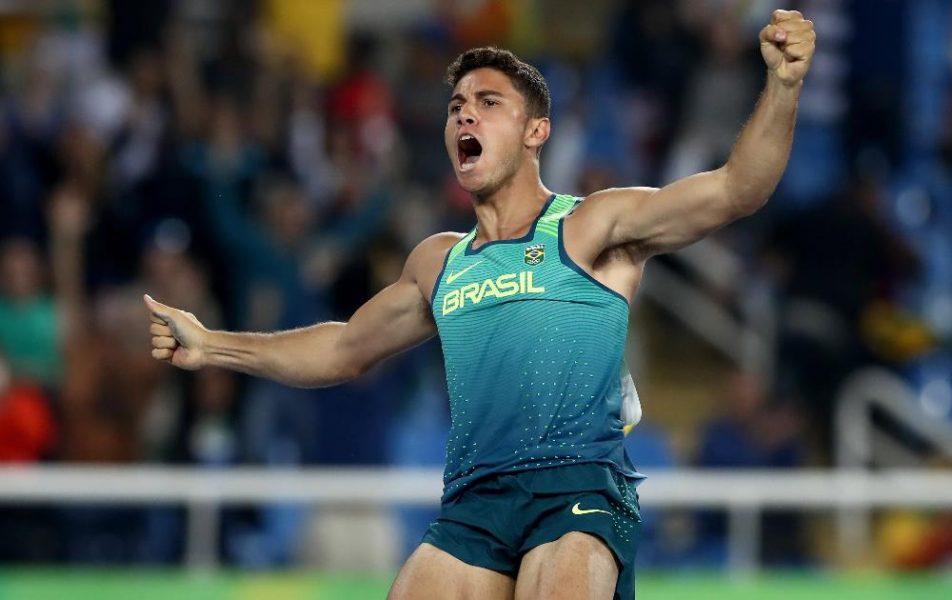Thiago Braz quebrou recorde olímpico. (Divulgação/Rio 2016/Getty Images)