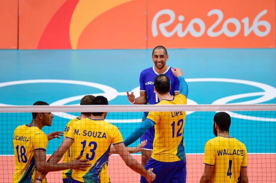 Paranaenses Serginho e Lipe estão na final olímpica. (Divulgação/CBV)